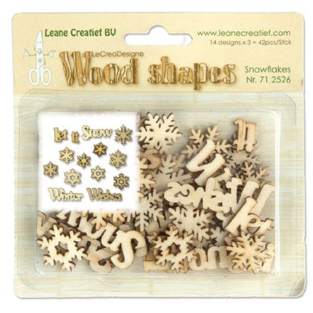 71.2526 ~  Snowflakes - WOOD SHAPES  ~  by Leane Creatief